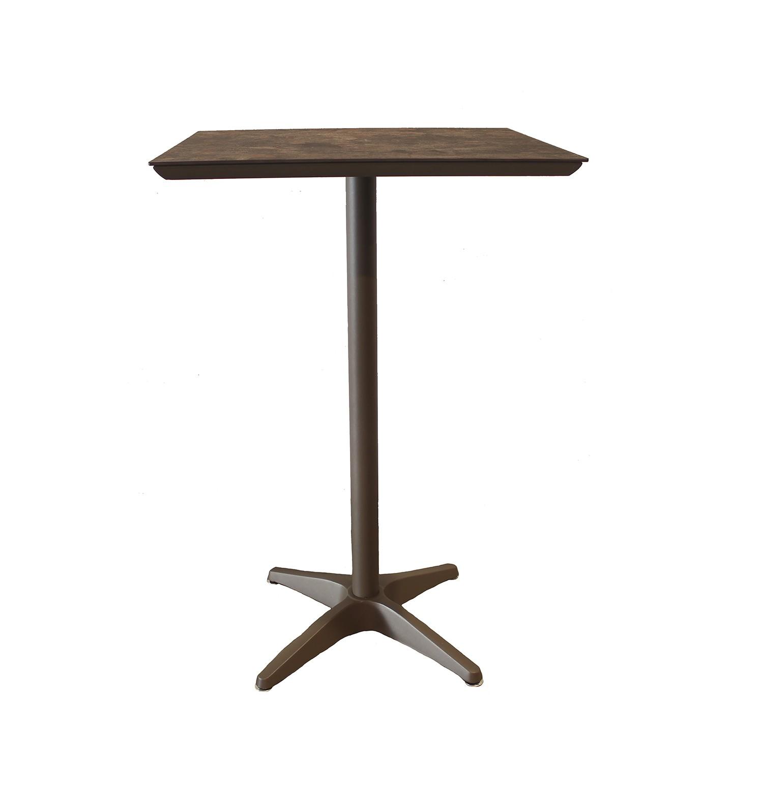 Aluminium Table, Cask Metal w/ Satin Finish.
