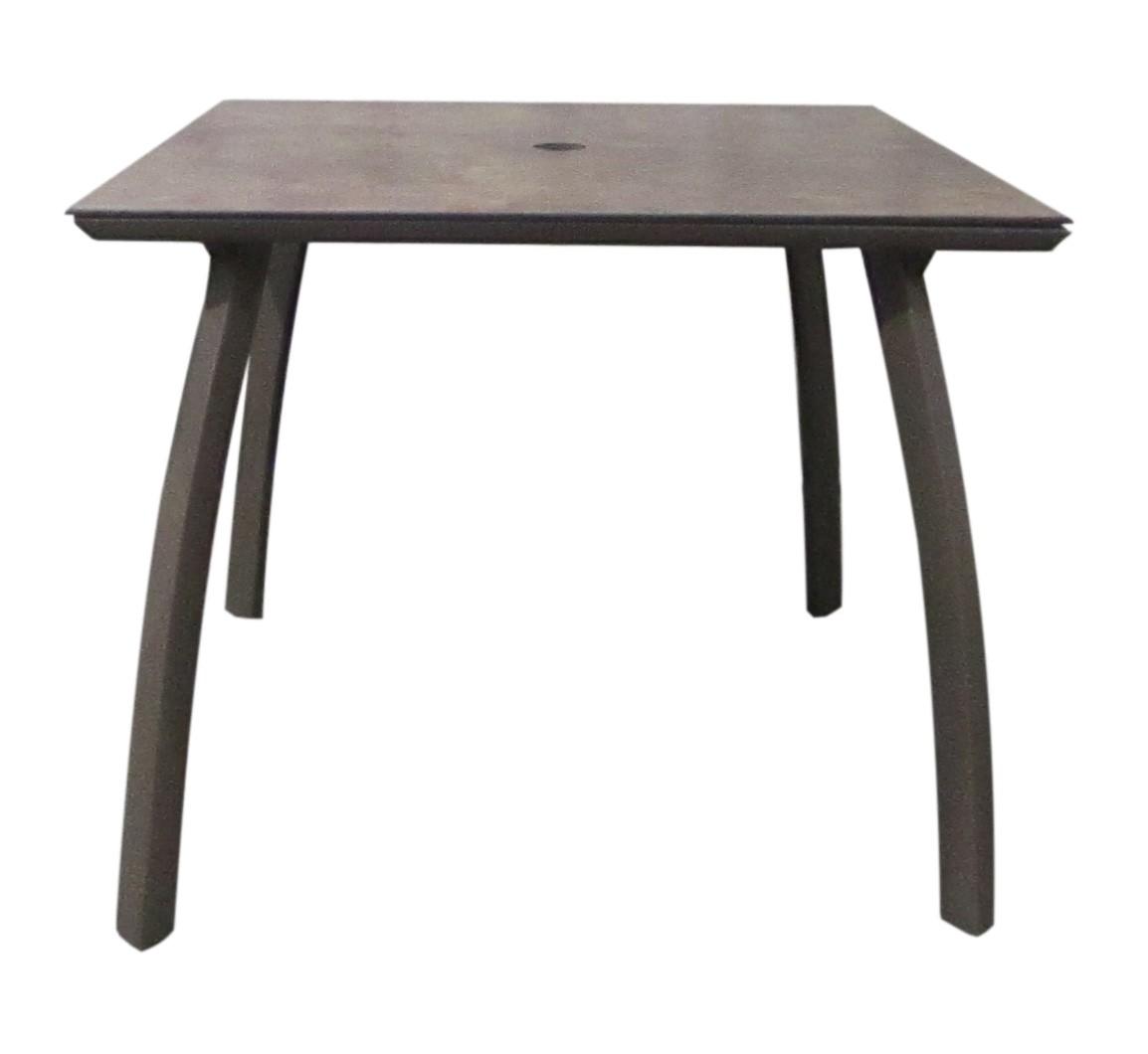 Aluminium Table, Cask Metal w/ Satin Finish