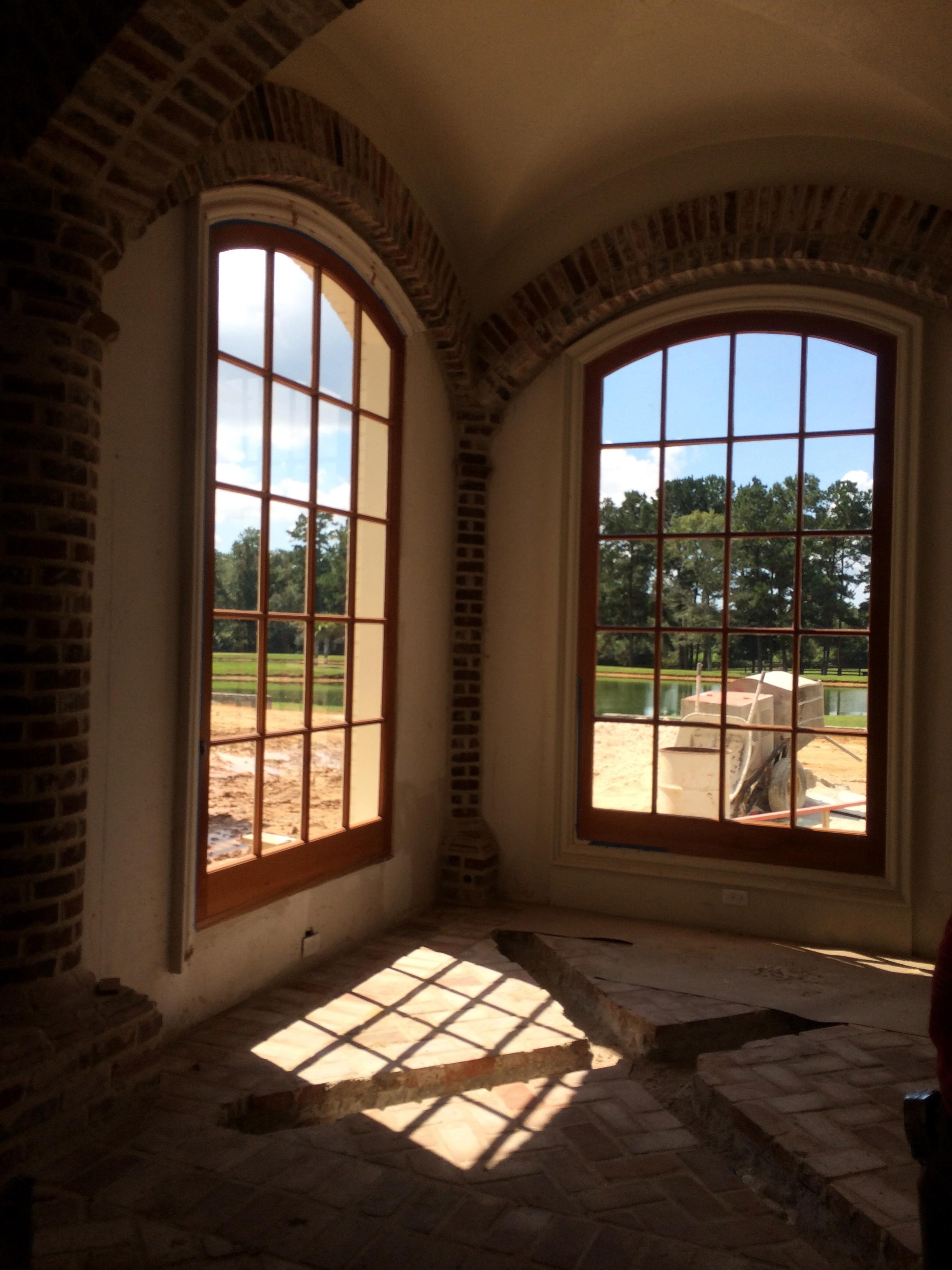 Oversized Spanish Cedar Picture Windows