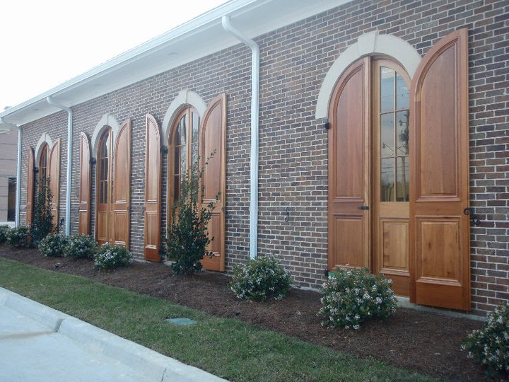 Paneled Arched Shutters
