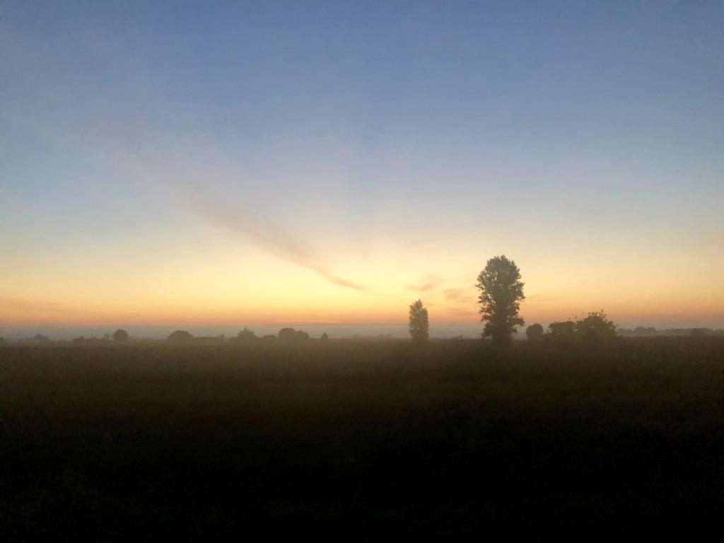 Sunrise in the aquitaine