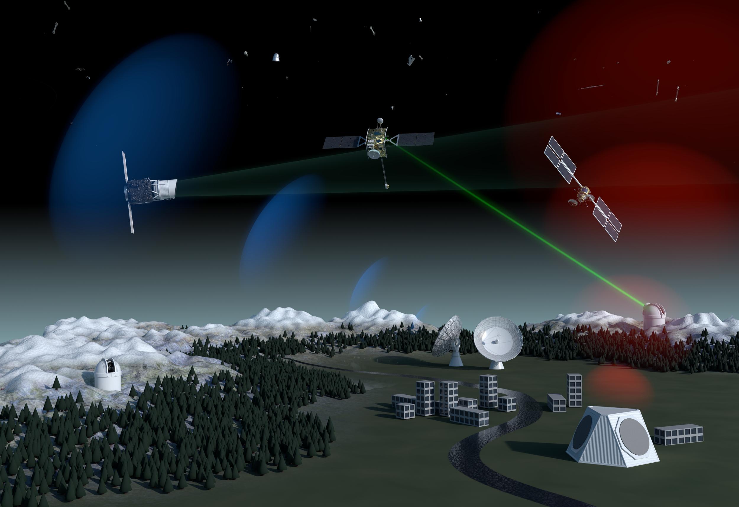 Concept for ESA SST program. Credit: ESA/Alan Baker