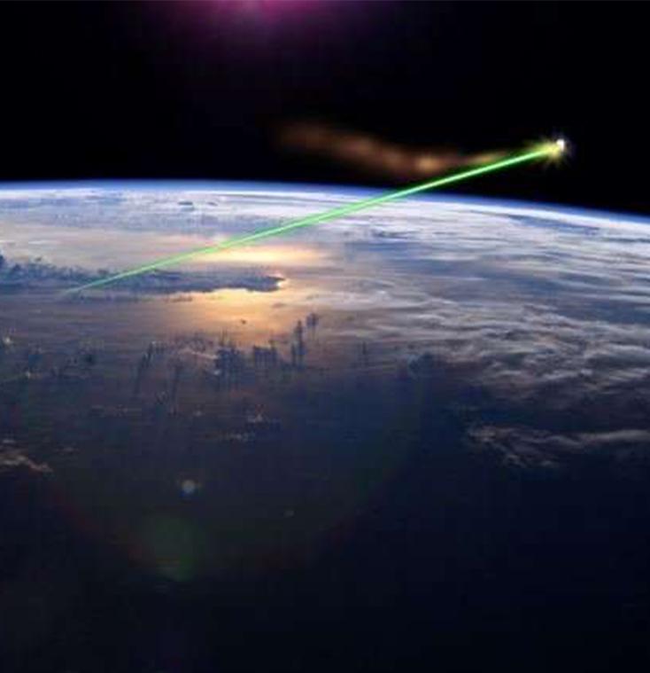 Artist's impression of a laser removing orbital debris  Credit: Fulvio314/NASA/Wikipedia Commons
