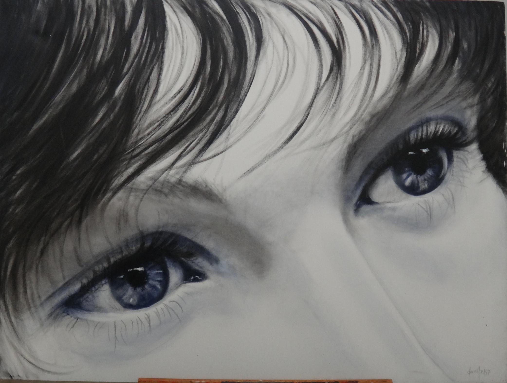 Title: Blue Eyes  Medium: Acrylic on Canvas  Dimensions:  Framed: No  Price: Contact for Inquiry