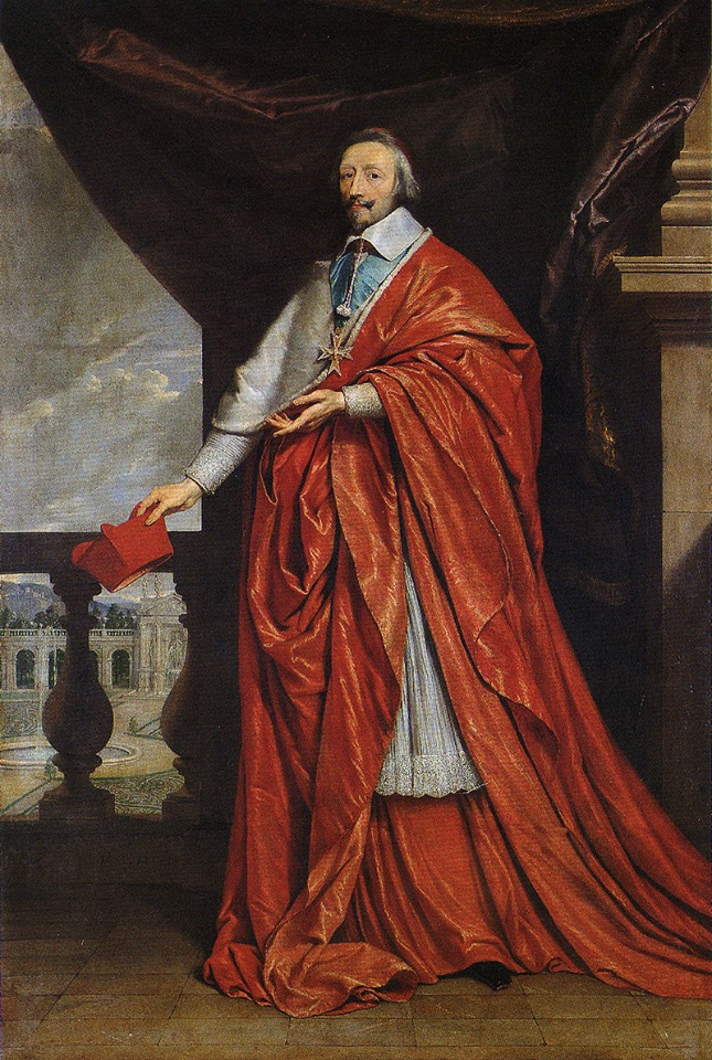 Cardinal de Richelieu c. 1633-40 by Philippe de Champaigne from The National Gallery.