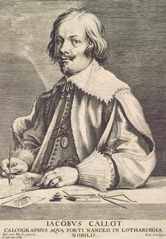 Portrait of Jacques Callot by Lucas Vorstermanthe Elder after Anthony van Dyck. c. 1635