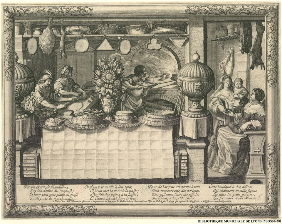 The Patisserie by Abraham Boss, (1602-1676) from the Bibliothèque municipale de Lyon