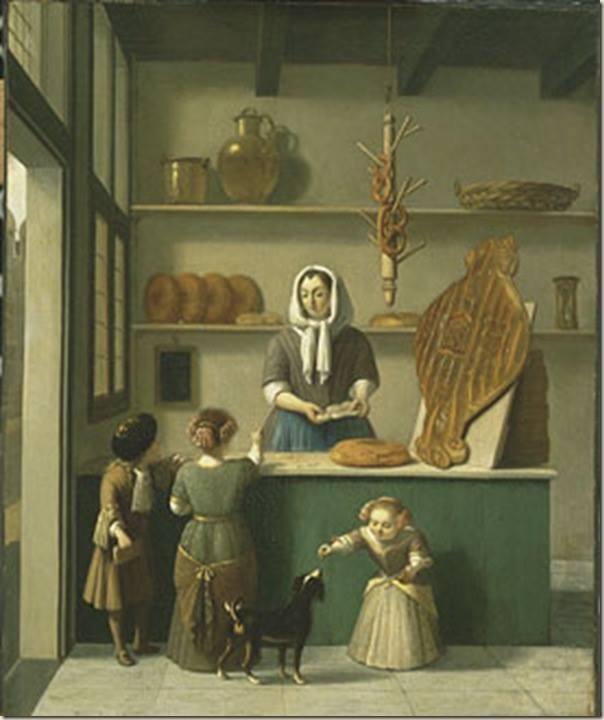 The Bakery by Gerrit Adriaenszoon Berckheyde (1638 – 1698).