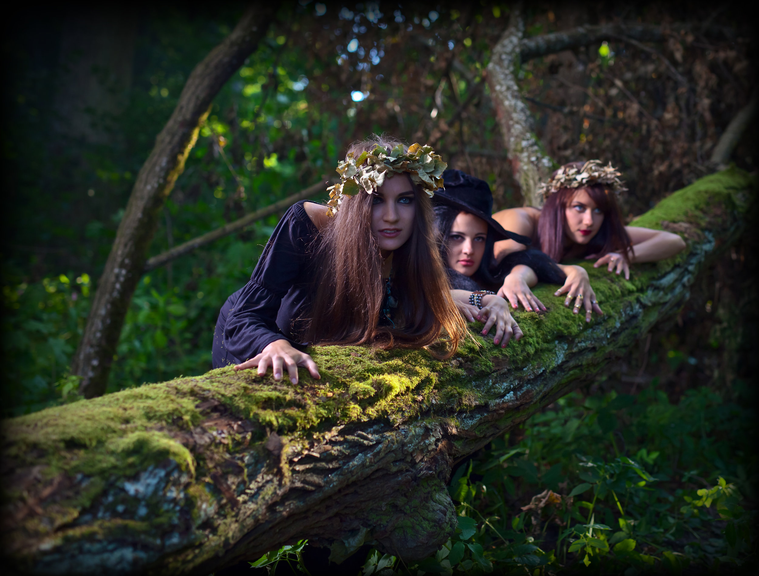 Wild witches in the woods.