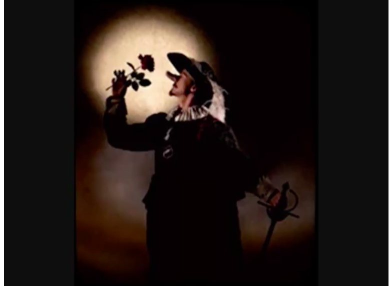 An image from the Youtube of Francesco Guiccini's beautiful song Cyrano
