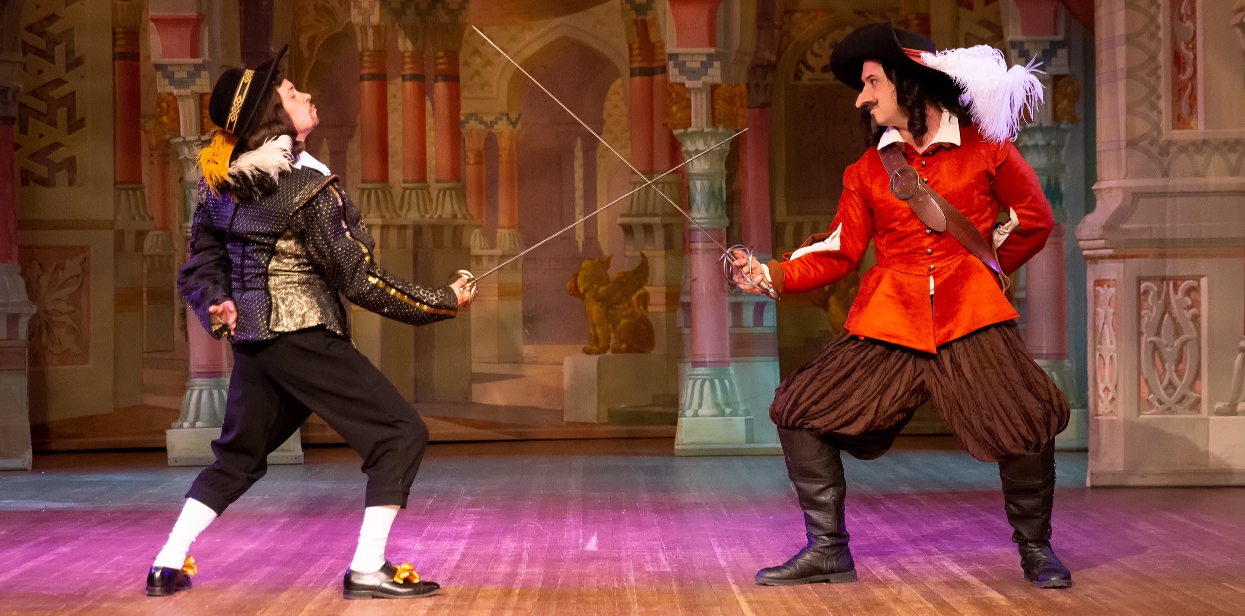 Cyrano duels the Vicomte de Valvert. Photo by Steve Rogers