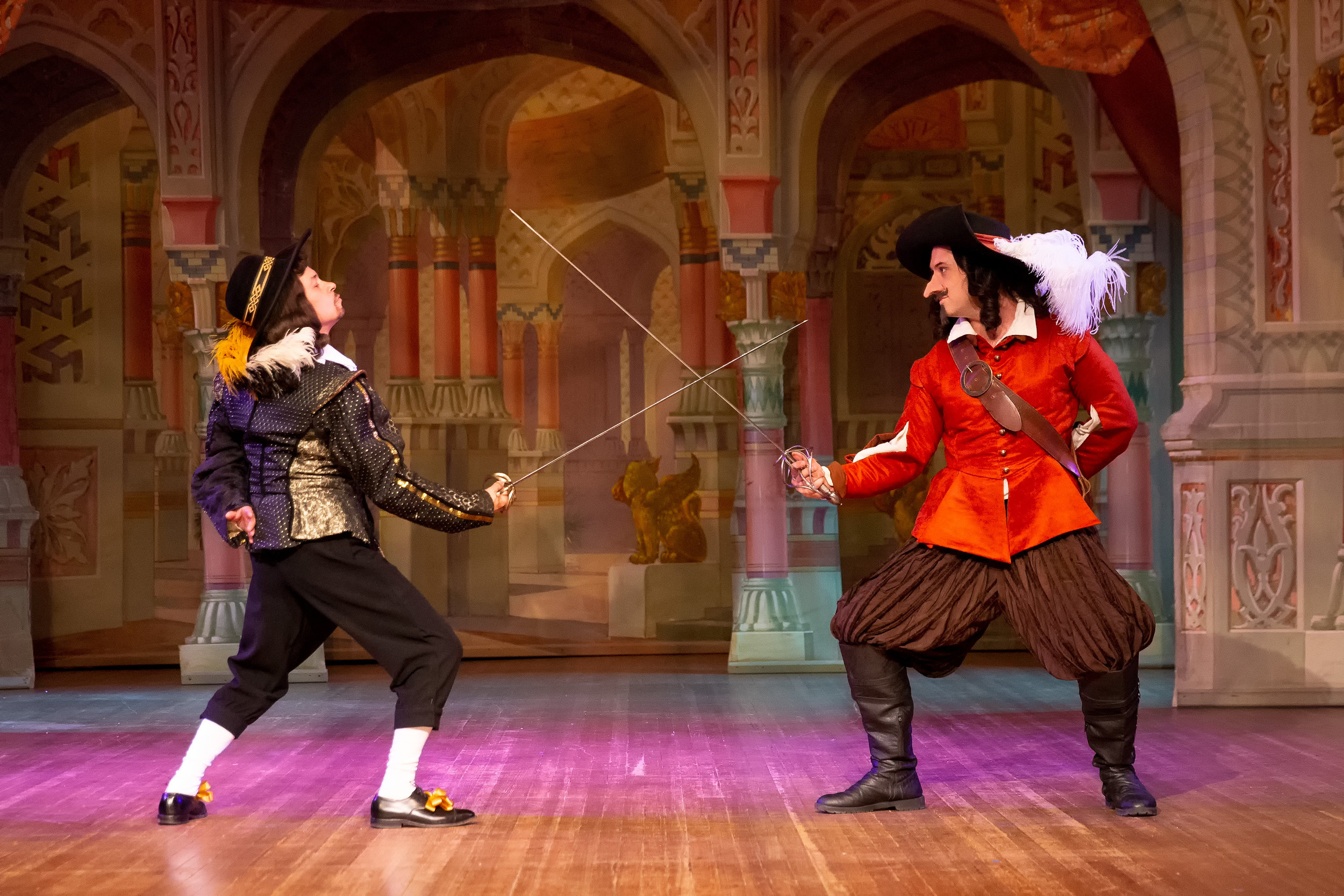 Cyrano duels the insulting Vicomte de Valvert. Photo by Steve Rogers