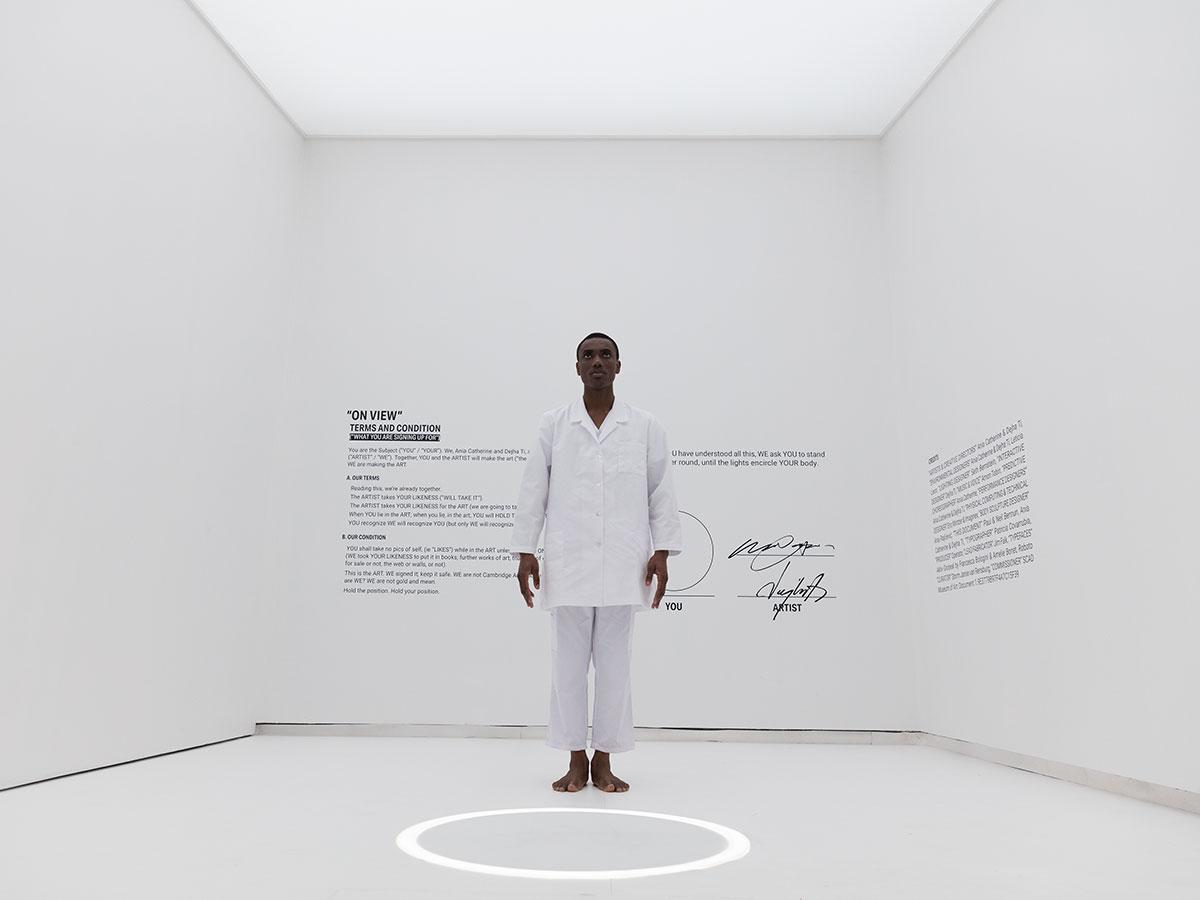 Ania Catherine + Dejha Ti, 'On View,' exhibition view and performance still | SCAD Museum of Art, 2019 | Phoro: Djeneba Aduayom | Courtesy of the artists.