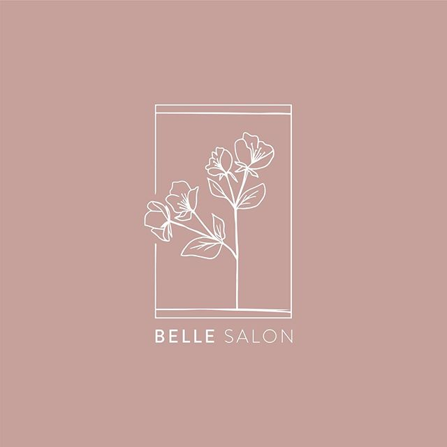 A fresh logo for a local salon.  @bellesalonup is such a fun spot in University Place. We wanted to bring a touch of mod and refinement to their brand. And who doesn't love a good dusty blush.... Next time you need a good escape and a great hair cut/color, check out these wonderful women!