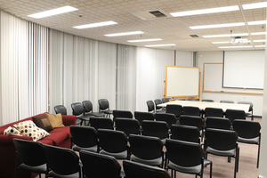 B100 MCP Conf Rm 10 at table, 16 around  Projector, Whiteboard Contact:  Rachelle