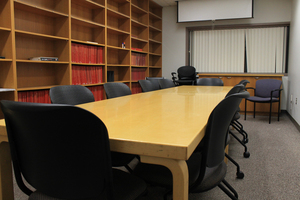 B475 Biochem Conf Rm Seats: 10 at table Projector, Whiteboard Contact:  Biochem