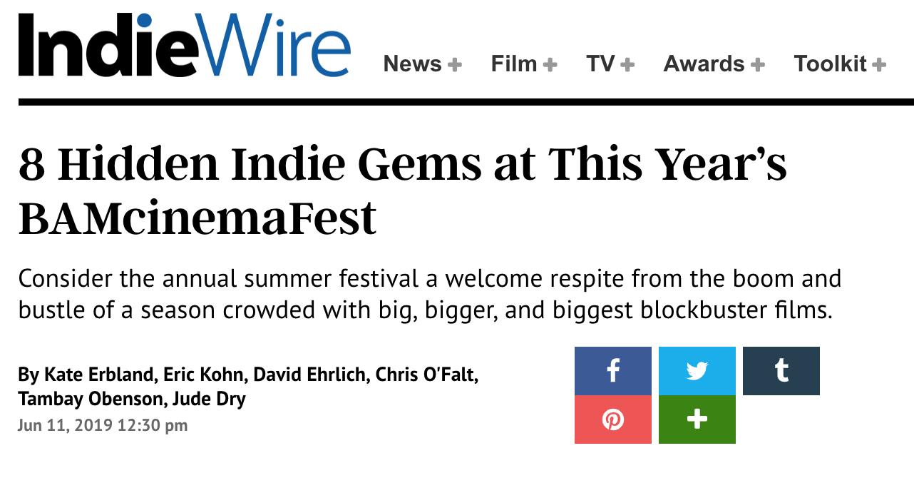 Indiewire // Review of DE LO MIO
