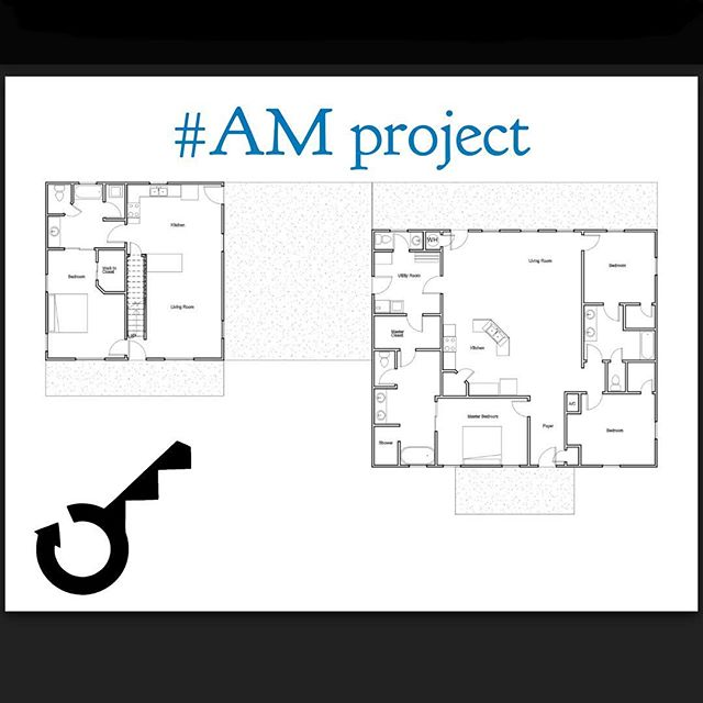 Here's the floor plan for one of our projects.  It's coming along great and the clients love seeing their paper floor plan come to life as we finish it up!  #westynsmansion  #amproject #turnkey #barndo #turnkeymetalbuildings
