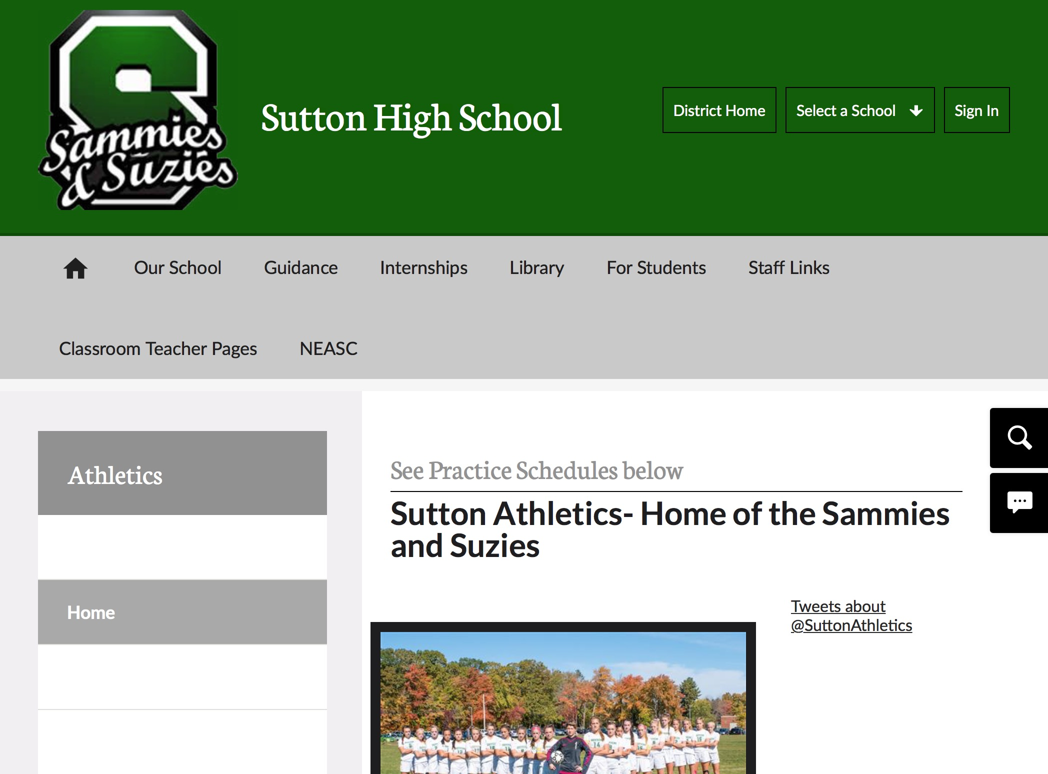 Sutton athletics - Sutton athletic website
