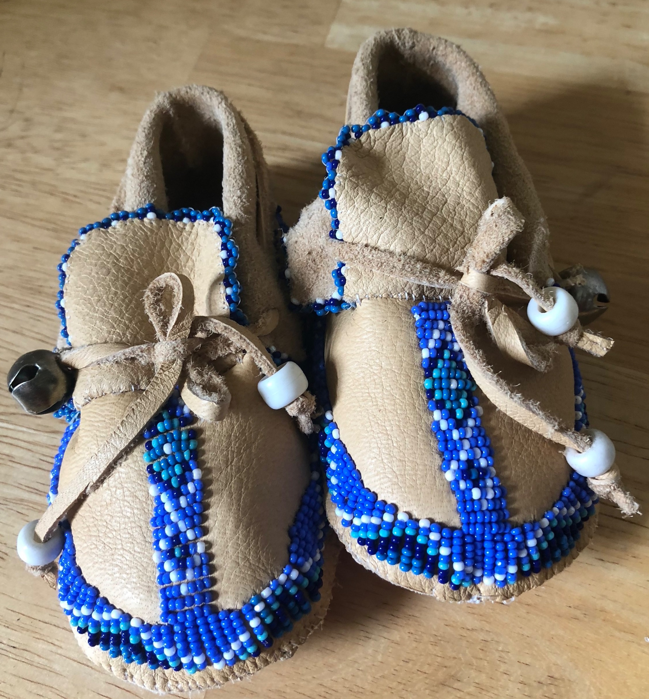We make handmade beaded baby moccasins. What an amazing gift and family heirloom! Contact us for details.