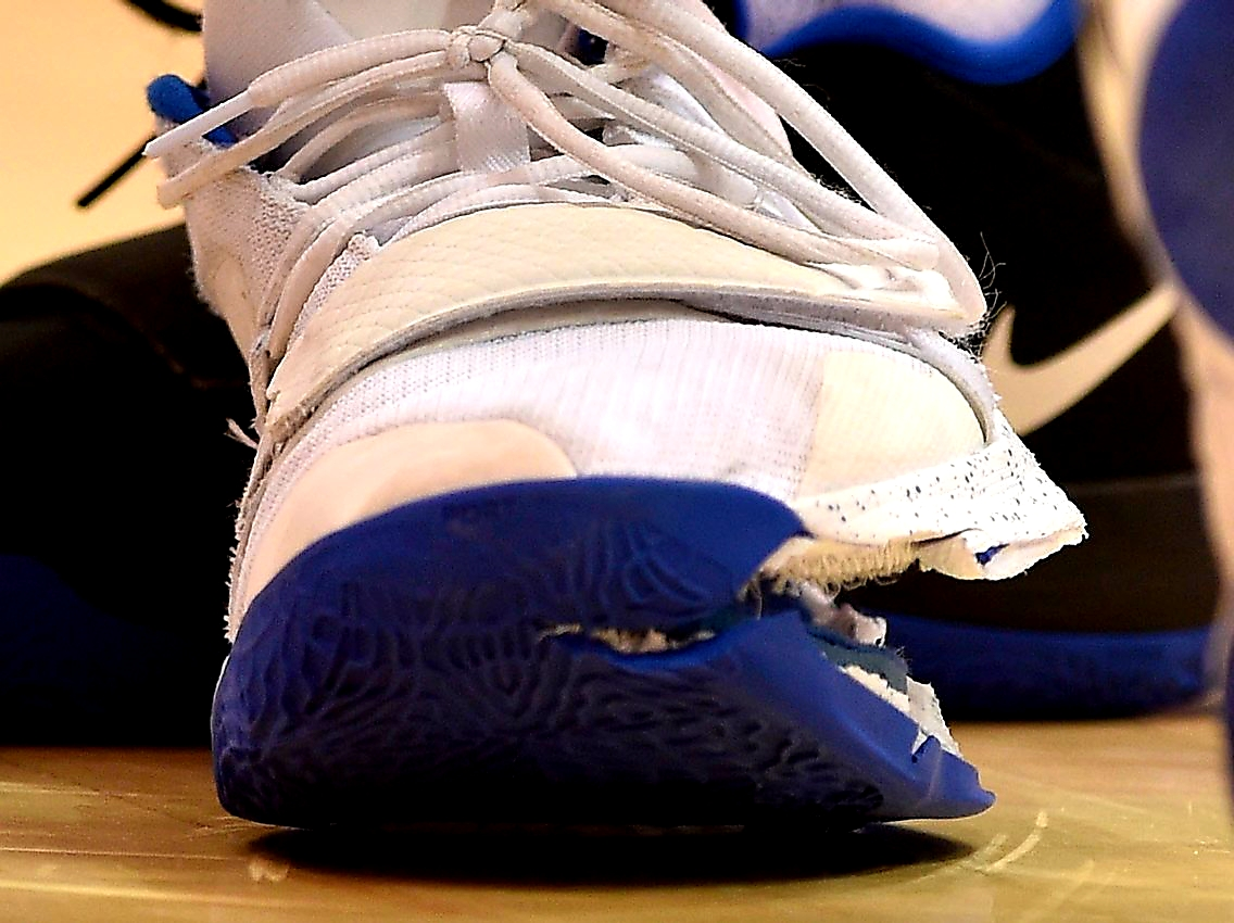 Another angle of the damaged shoe. Streeter Lecka/Getty Images