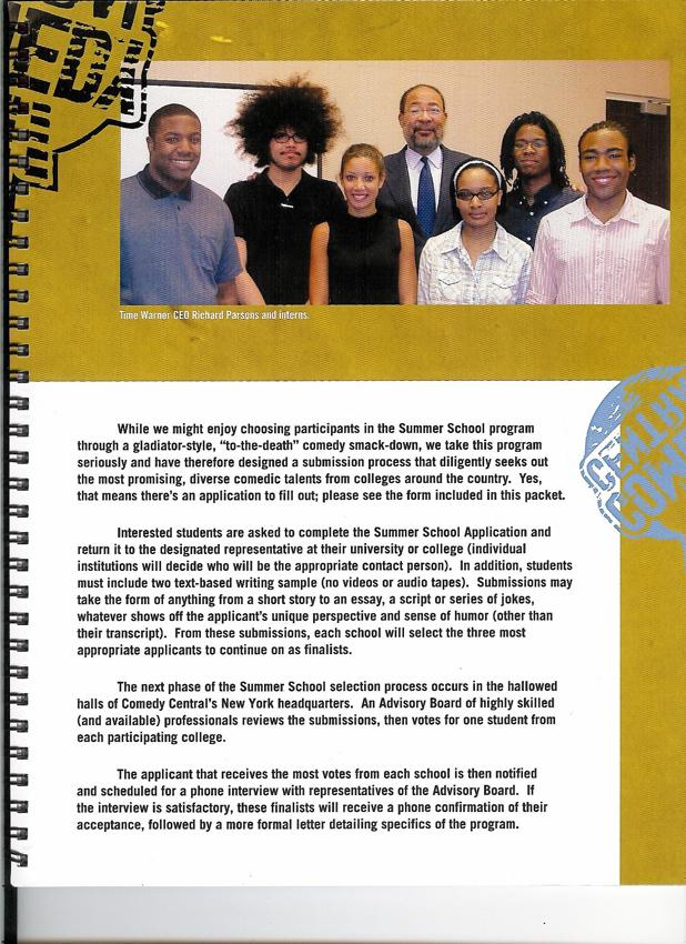 Comedy Central / Summer School Brochure Page 8