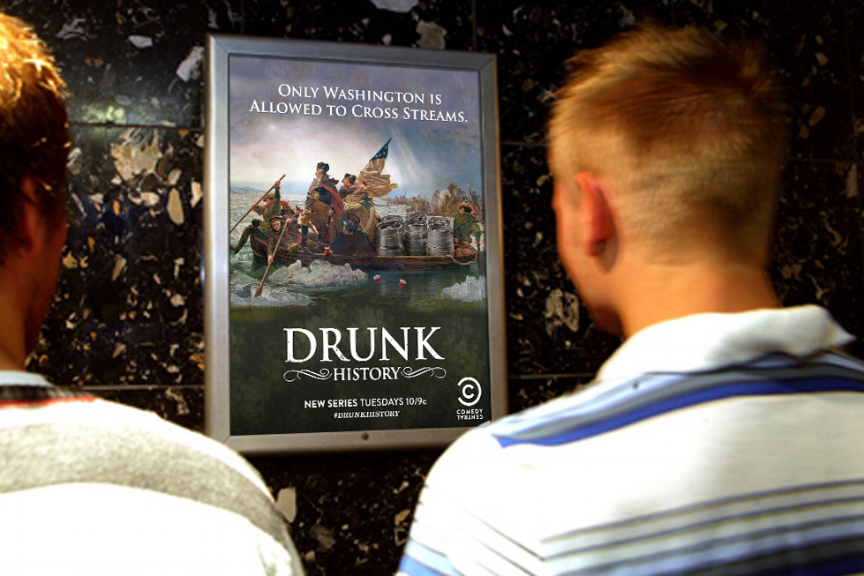 Comedy Central / Drunk History Restroom Ads