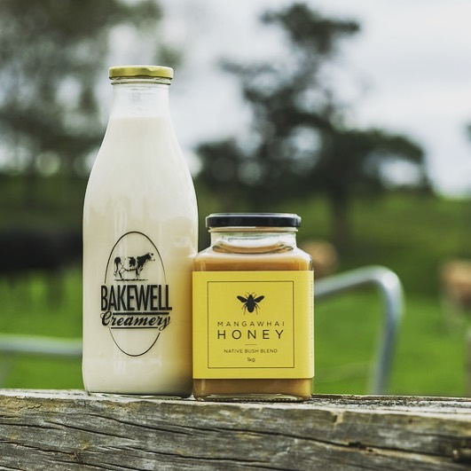 Did you know you can buy Mangawhai Honey through @bakewellcreamery and they will deliver it to your door along side their delicious raw milk, Check out their new website and how to order the goods.
