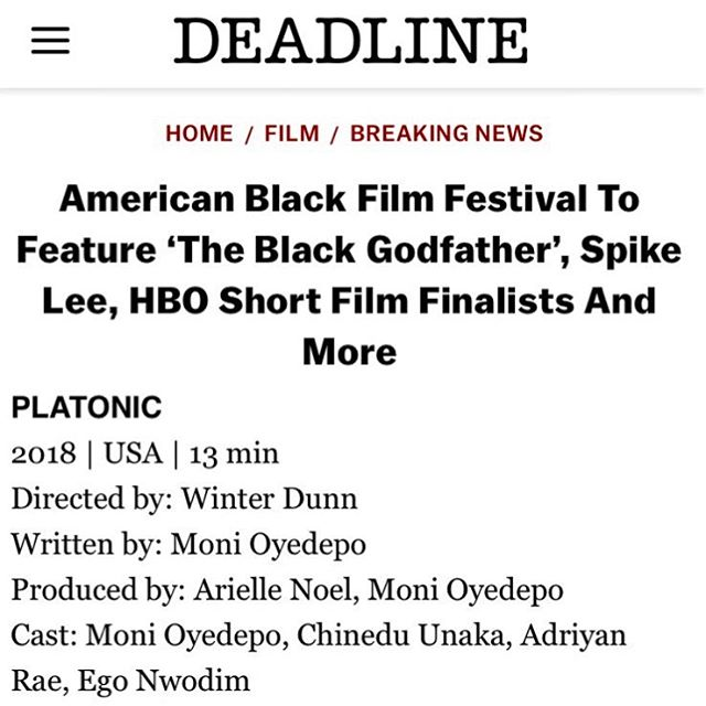 So we official official. Check us out next week at the @americanblackfilmfestival. #ItsGoingDown 🔥🔥