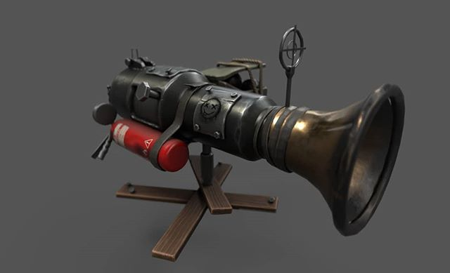 As promised, the automatic cannon gets a make over! 👀 Check out that last image for a peak into our process! #gaming #gamedev #steam #pcgaming #cars #indiegame #indie #twitch #pc #gamers #onlinegaming #indiegaming #pvp #online #cannon #gun #combat #3d #3dart #gameart #modeling