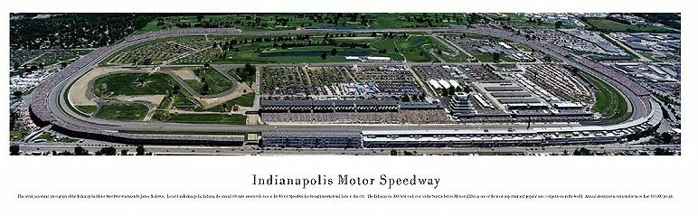 An aerial panoramic taken in the early 2000's (note the road course).