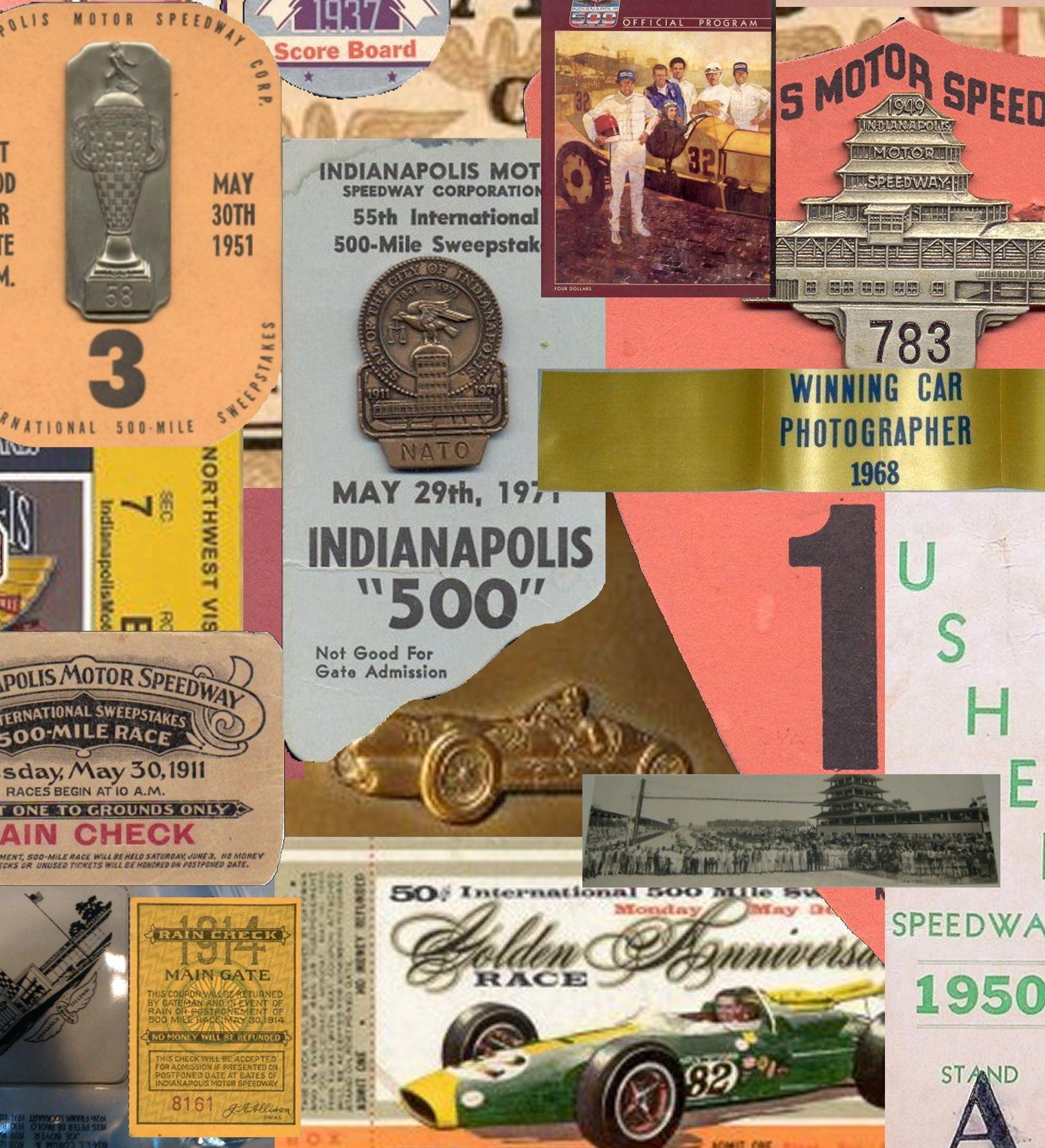 Indianapolis 500 Memorabilia - Click below to see Indianapolis 500 Memorabilia