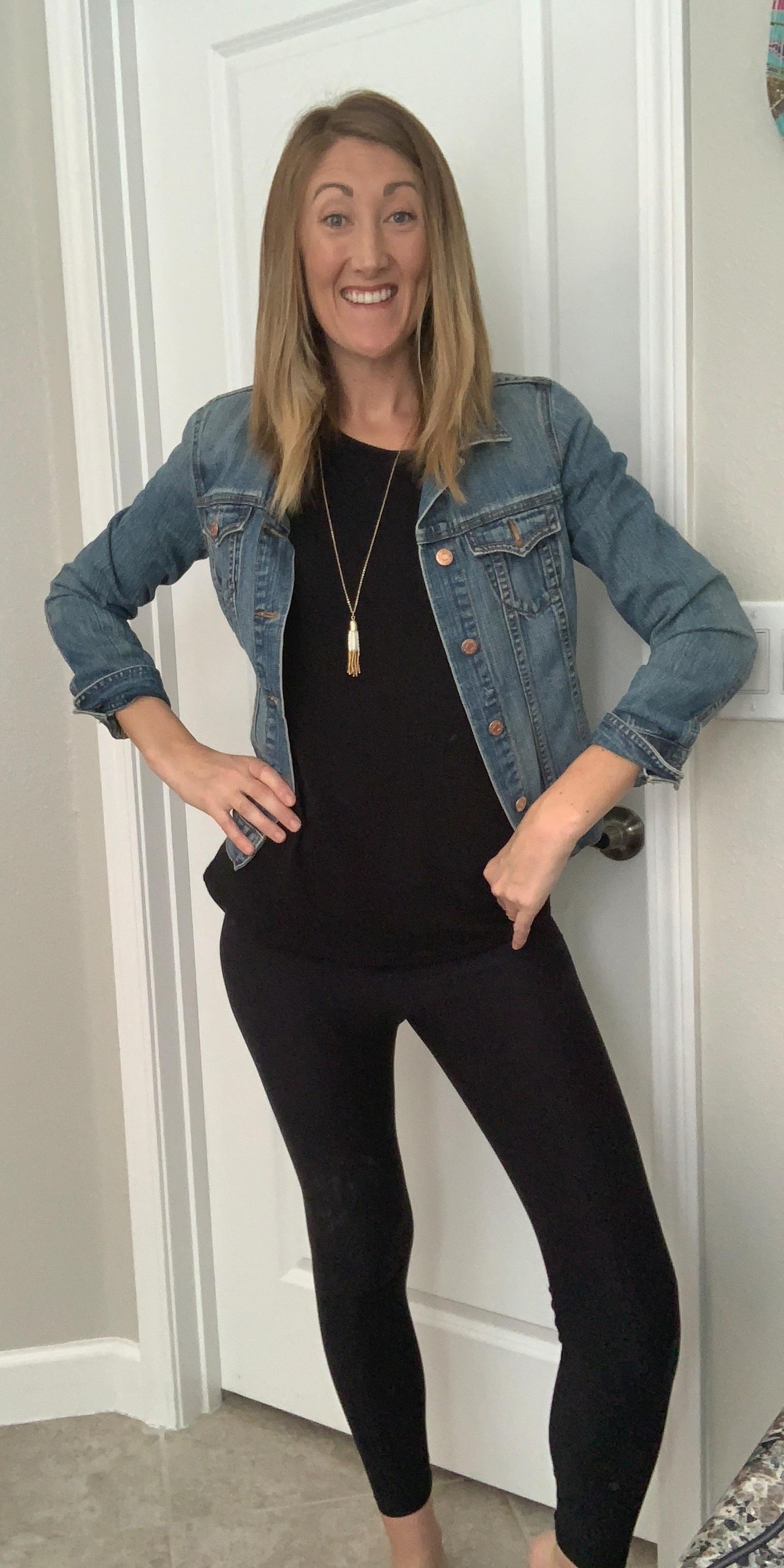 black on black jean jacket