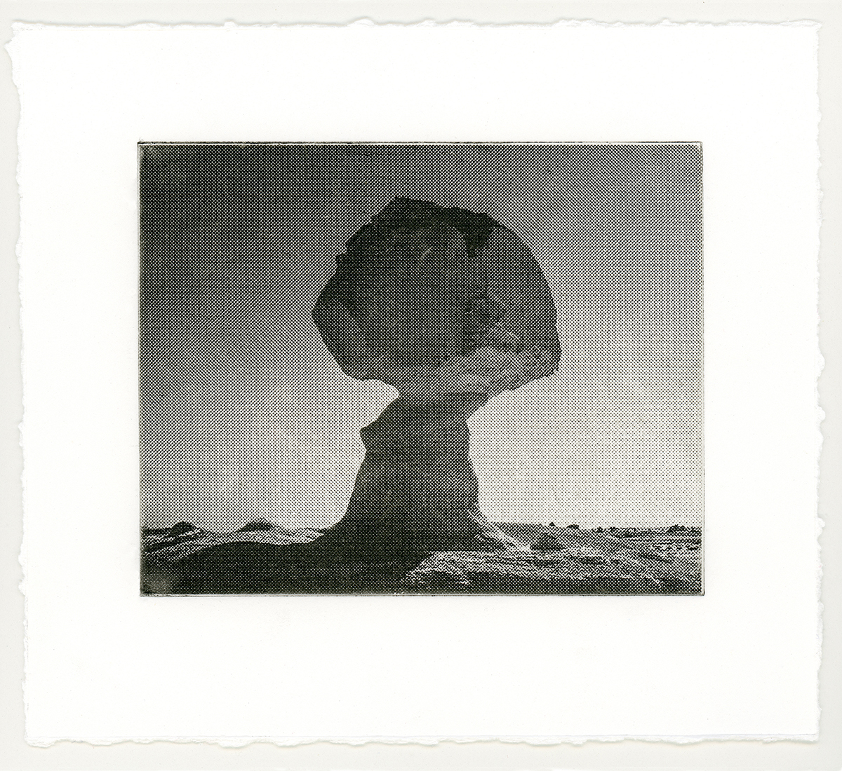 """CLOUD 1  from a suite of 4 solar-plate etchings 6"""" x 7"""" 2018"""