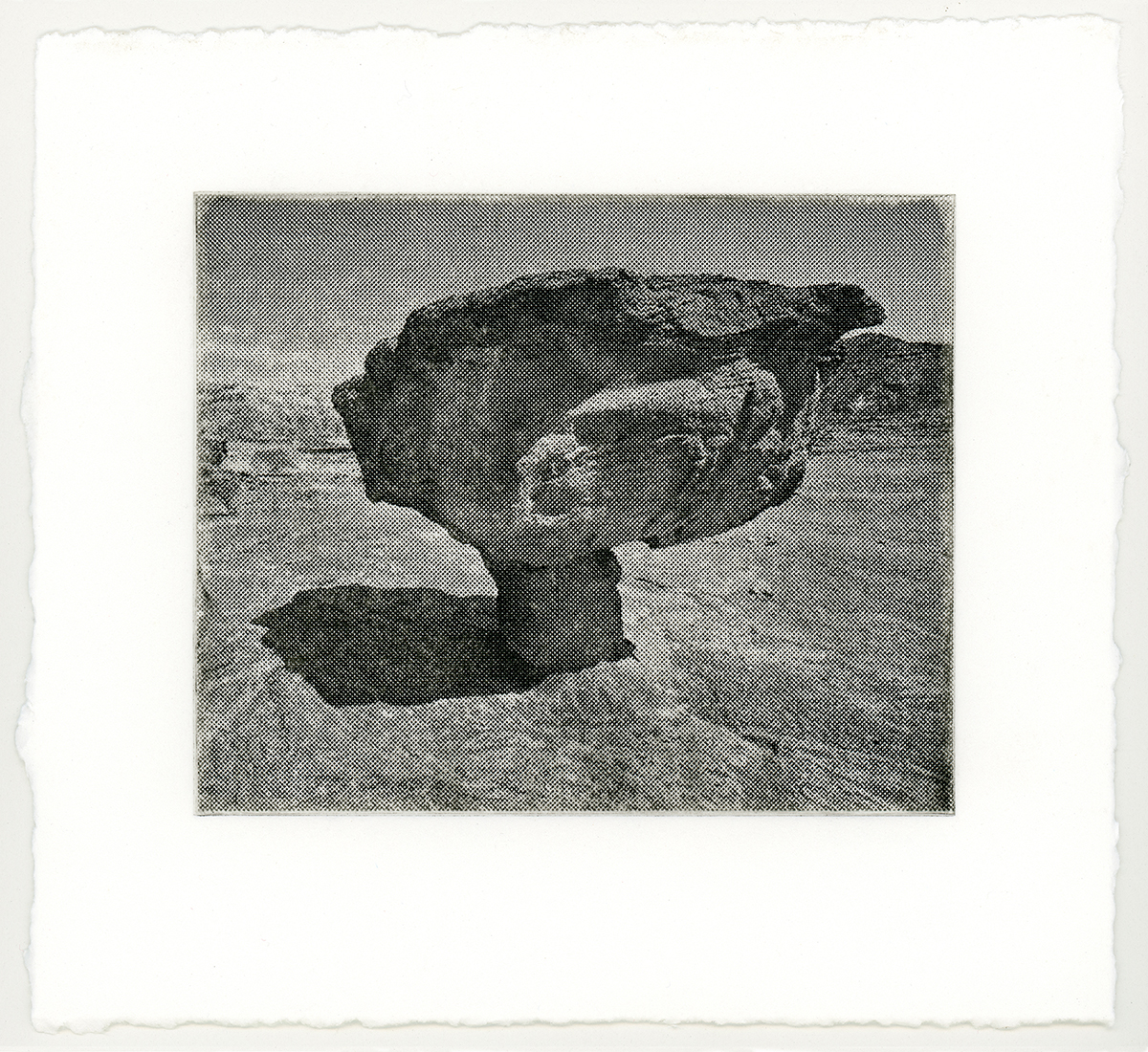 """CLOUD 2  from a suite of 4 solar-plate etchings each 6"""" x 7"""" 2018"""