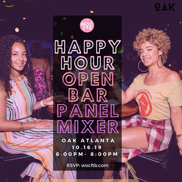 Join us for an intimate conversation on #fashion, #manufacturing, #style and #tech hosted by @wocftb at @oakatl (sponsored by @amazonfashion and #amazonadvertising) featuring: ✨ * @cedricsking - Founder, The Fashion Hustle * @loveevonya - Founder, @styledbylovee *@thebadasscoder - SE @blavity * Stefanie Jewett - Founder, @activvely * @_jessicaveronica_ - CoFounder, WOCFTB . The first #woc FashTech Brunch took place during New York Fashion Week at the exclusive Ludlow House in Soho. The event hosted the top WOC in the fashion and tech industries celebrating their successes and accomplishments and creating an intimate space for #women to discuss their experiences with like-minded people. Most importantly, the event fostered an atmosphere of community among attendees. This week the event is expanding to Atlanta with a #fashtech mixer on Wednesday and #beautytech mixer on Thursday! Registration includes OPEN BAR from 6:00 - 8:00 PM. Visit wocftb.com for details. #happyfriday #friyay 💕 #shakingthingsup