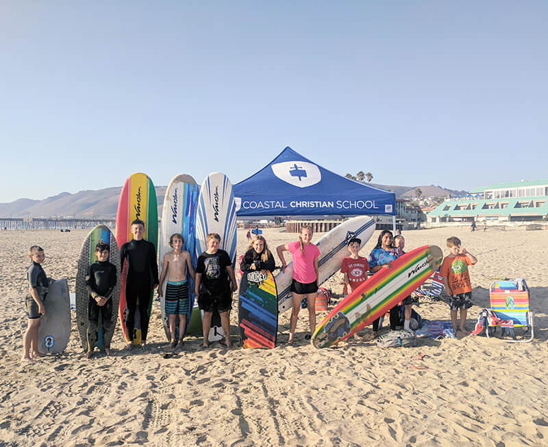 Surf Club - The Surf Club at CCS meets on the beach near the end of Wadsworth in Pismo Beach. Check with the office for upcoming meetings.