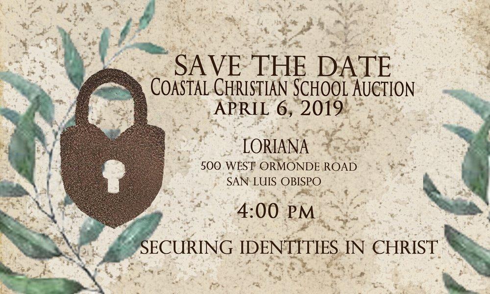 Coastal Christian School 2019 Auction Invitation