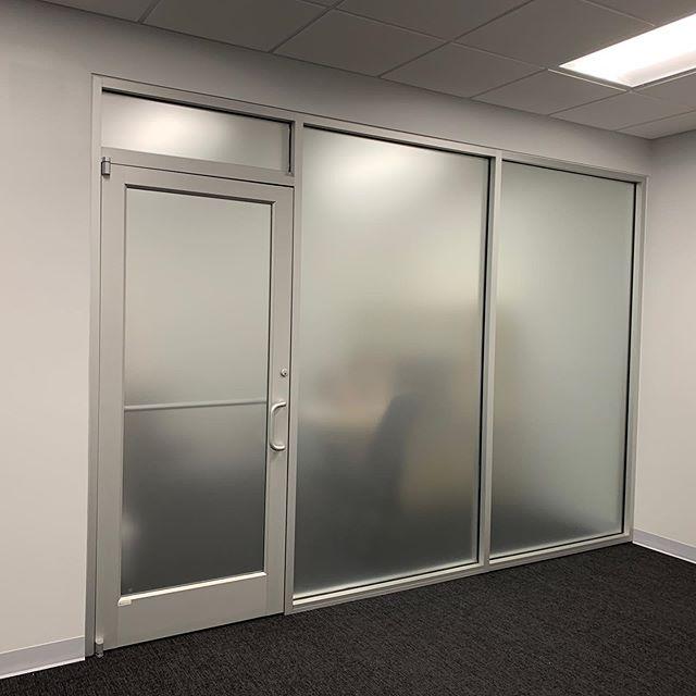 Frosted vinyl installed on these office windows. . . . #frostedvinyl #frosted #officewindows #atlanta #buckhead #buckheadatlanta