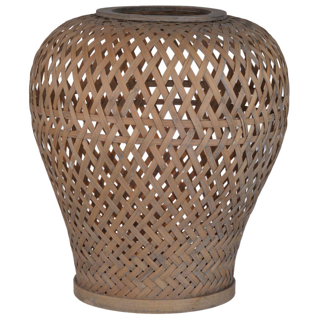 Round Wicker Lantern