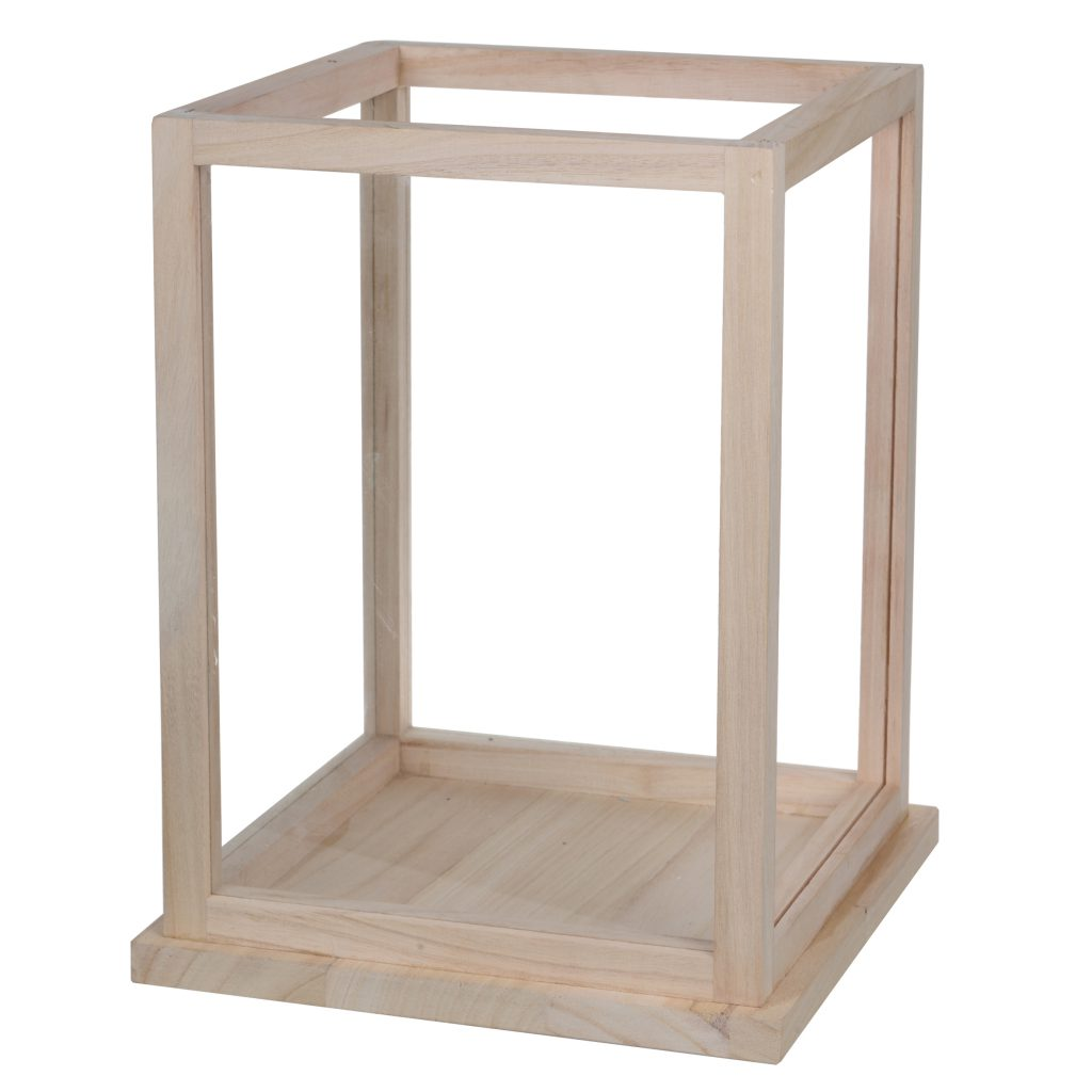 Square Wooden Lantern- Large & Small