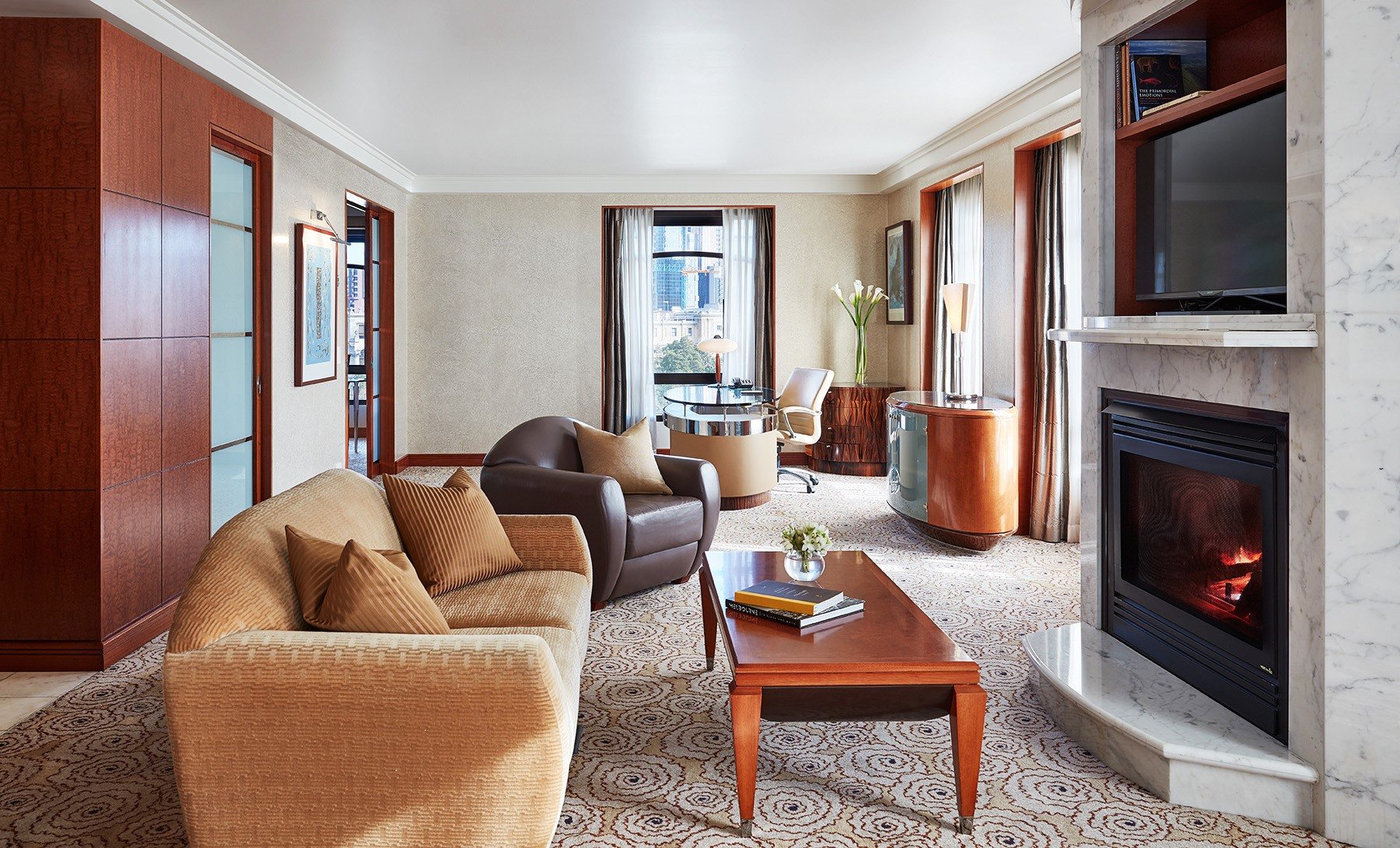 Living Room in Ambassador Suite at Park Hyatt Melbourne hotel