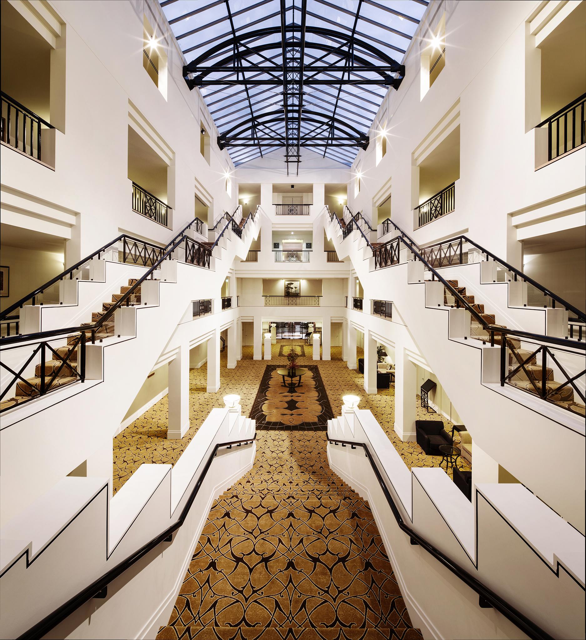 Staircase at Hyatt Hotel Canberra