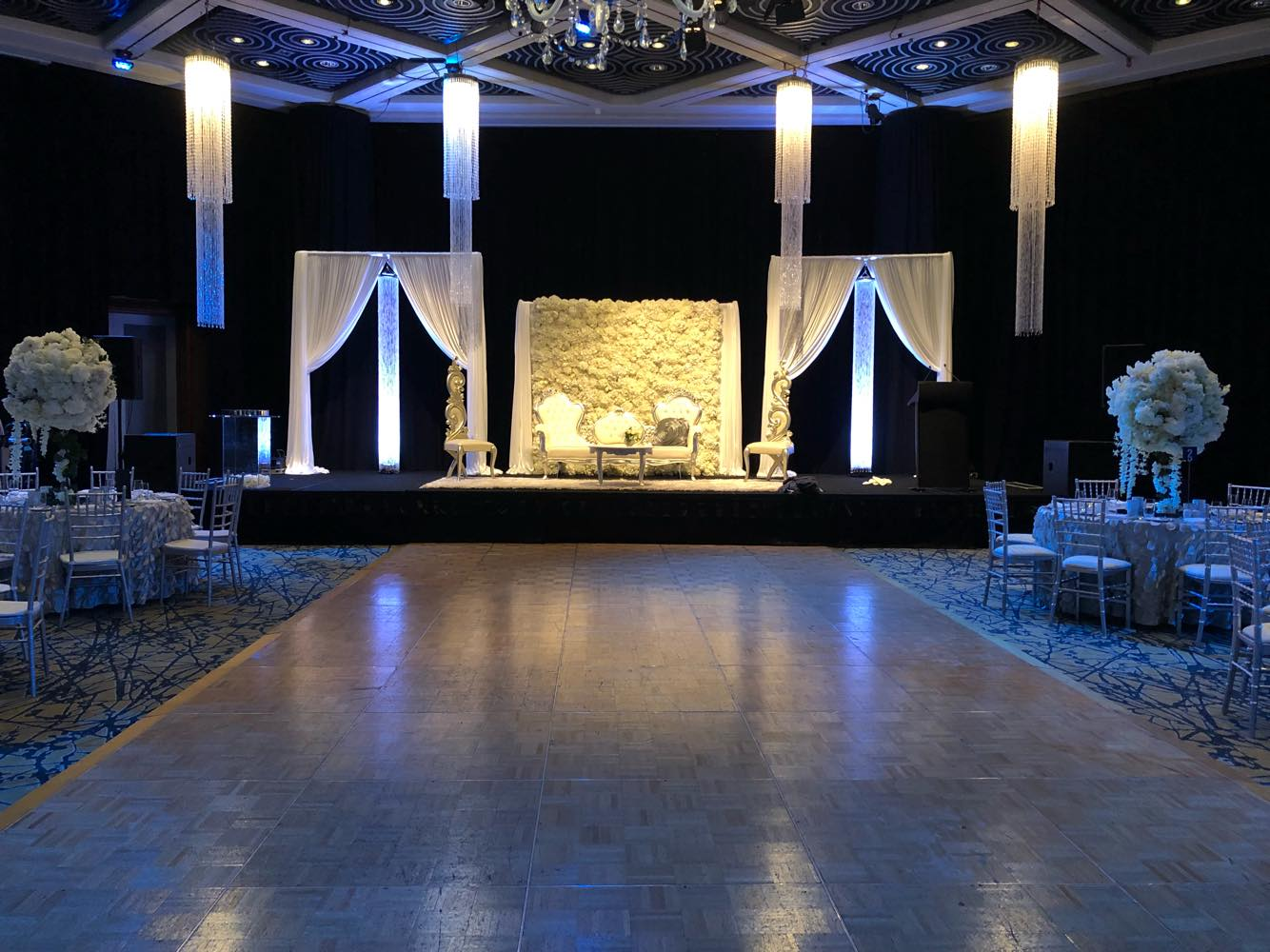 Wedding reception with dancefloor in Grand Ballroom at Hyatt Regency Perth