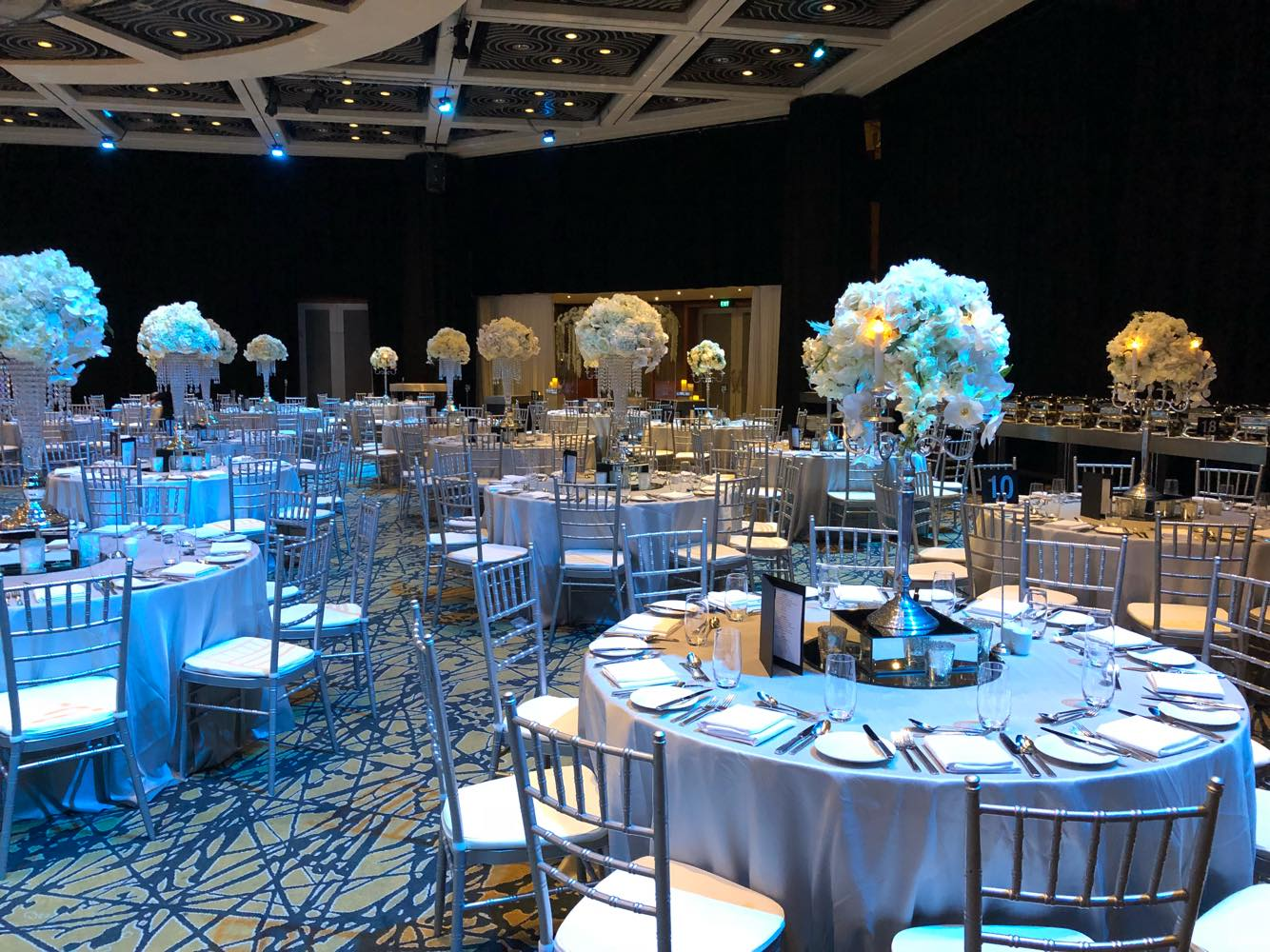 Wedding reception in Grand Ballroom at Hyatt Regency Perth