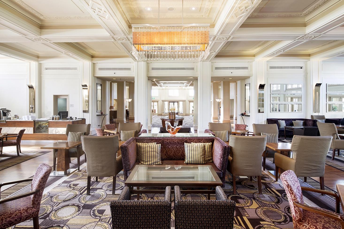 Lounge at Hyatt Hotel Canberra