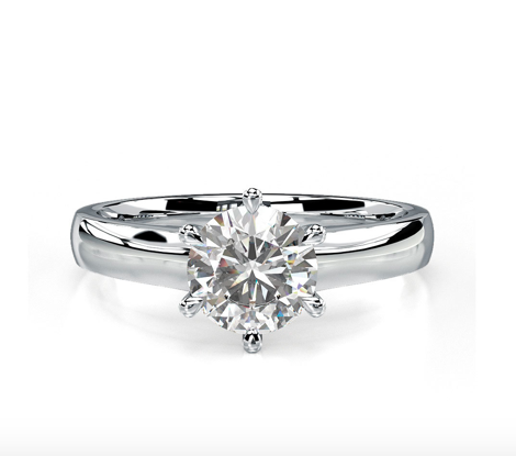 Diamond Exchange - Brilliant Cut Refined Claw Set Solitaire Ring