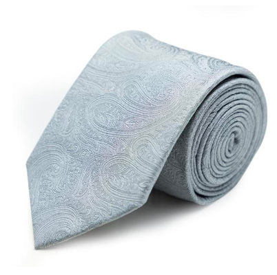 Joe Black - Paisley Jacquard Tie in Silver