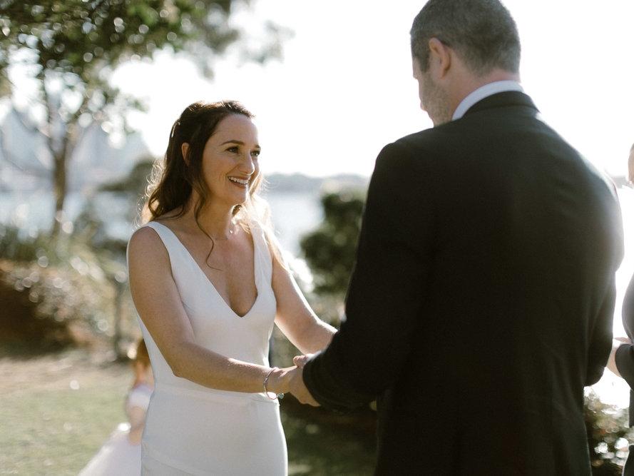 Bride and groom at wedding at Park Hyatt Sydney