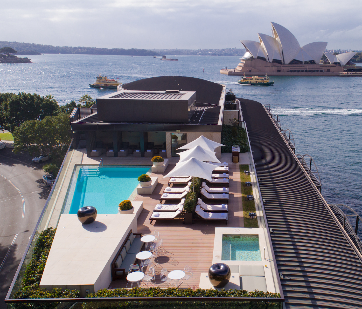 Rooftop Pool with Opera House view at Park Hyatt Sydney Hotel